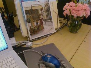 flowers desk
