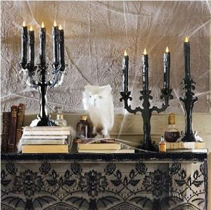 Black Candle Holders from GrandinRoad.com