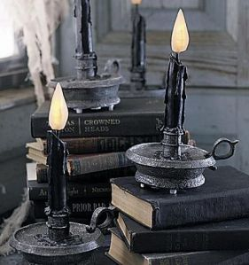 Flickering LED Candles from GrandinRoad.com