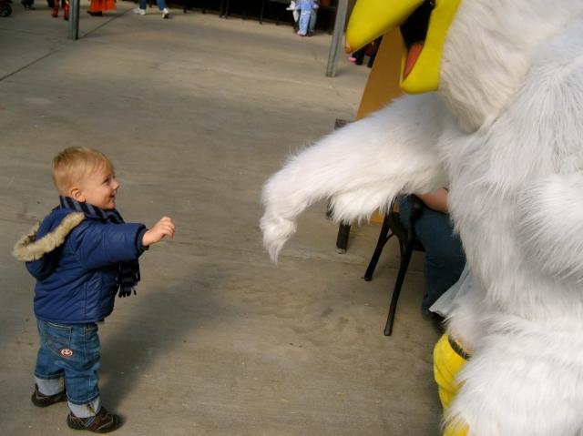 Liam's Chicken Moment