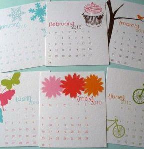 Peony Paperie Calendar