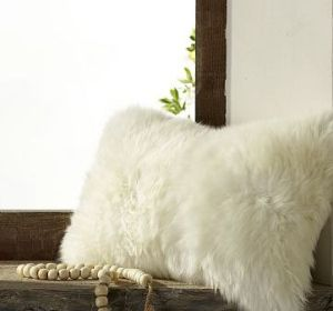 Sheepskin Pillow Cover